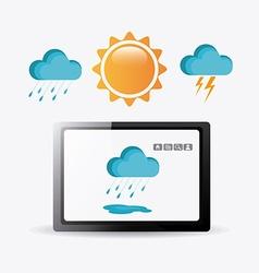 Weather mobile app vector image