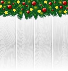 White wooden christmas background vector image vector image