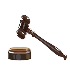 Wooden gavel vector
