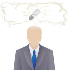 worker or businessman with idea vector image vector image