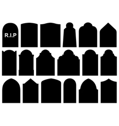 Different halloween gravestones vector