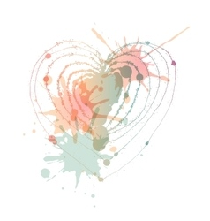 heart with blots vector image