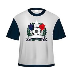Soccer t shirt vector