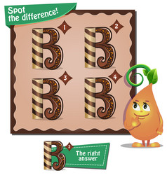 spot the difference letters b vector image