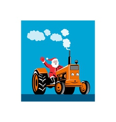 Santa Claus Driving Tractor vector image