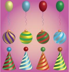 holiday symbols vector image