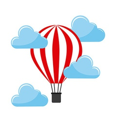 Balloon air hot vector