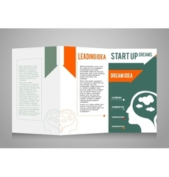 Template booklet theme business and startup vector