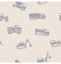 Seamless background with trucks vector