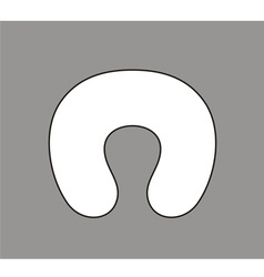 Neck pillow vector