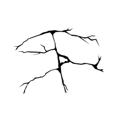 Cracks black silhouette vector image