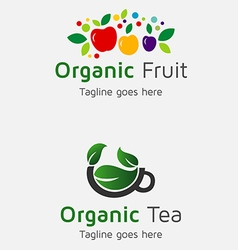Organic fruit vector