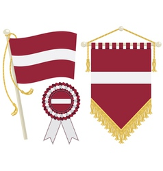 Latvia flags vector