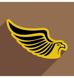 Stylish icon eagle vector