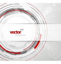 Abstract background with red and grey circles vector image