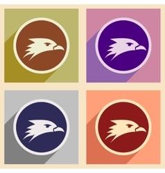 Assembly logo eagles head vector