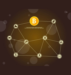 Background block chain style collection vector