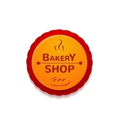 Bakery shop label vector image vector image