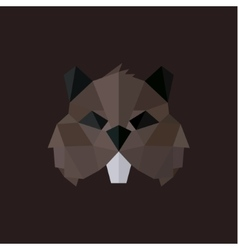 Beaver logos modern styles polygonal vector