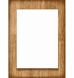 blank paper A4 sheet on wooden background vector image vector image