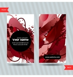 Colorful decorative business cards with free vector image vector image