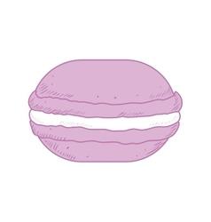cookie dessert cute sweet food icon vector image