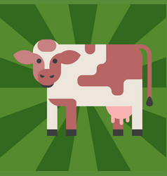 Cow farm animal character vector