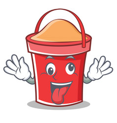 crazy bucket character cartoon style vector image vector image