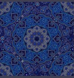 Dark blue paisley seamless pattern original vector