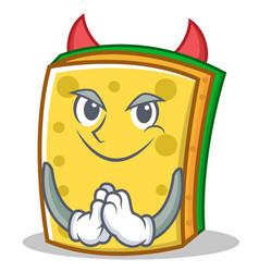 Devil sponge cartoon character funny vector
