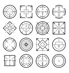 different military targets for strategy games vector image