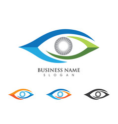 eye care logo design vector image vector image
