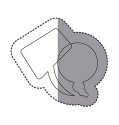 Figure squere and round chats bubbles icon vector