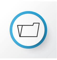 File folder icon symbol premium quality isolated vector