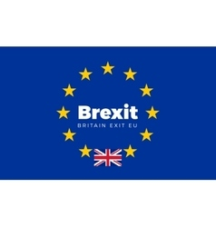 Flag of Britain on European Union Brexit - vector image
