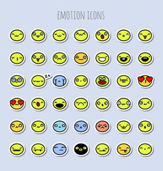 funny emotion icons vector image