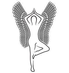 Human with wings vector