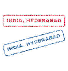 India hyderabad textile stamps vector