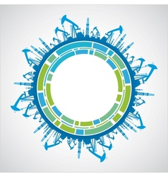 Industrial earth sphere vector image vector image