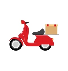 motorcycle speed delivery box vector image vector image