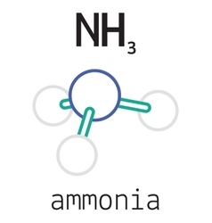 Nh3 ammonia molecule vector