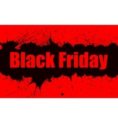 Paint grunge background for black friday vector