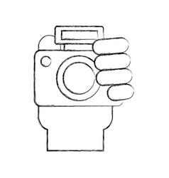 Professional digital camera vector