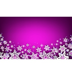 Purple winter background with snowflakes vector