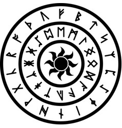 ring with runes vector image vector image