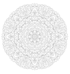 Round ethnic pattern vector image vector image