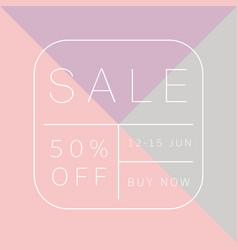 Sale template design vector