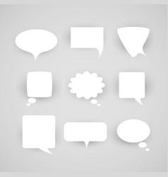 Set of chat bubbles vector