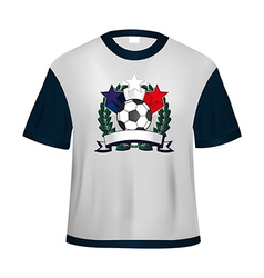 Soccer t shirt vector image vector image