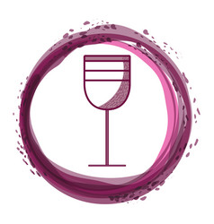 Tasty wine glass inside of bubble vector